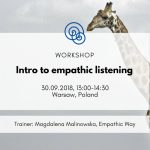 Empathic Way Europe Intro to empathic listening NVC Nonviolent Communication Poland Warsaw 2018.09.30