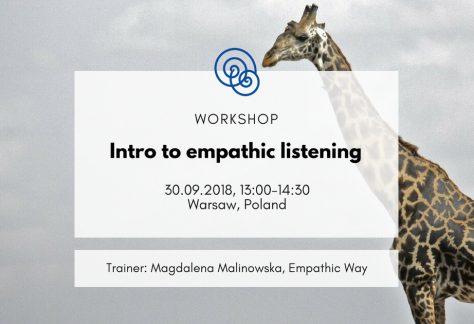 Empathic Way Europe Intro to empathic listening NVC Nonviolent Communication Poland Warsaw 2018.09.30