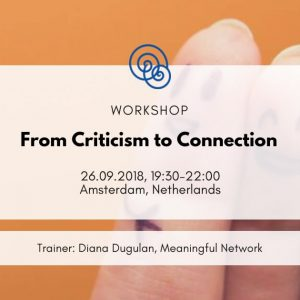 Time for Empathy International project Empathic Way Europe From Criticism to Connection Diana Dugulan