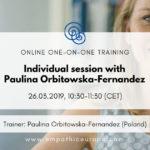 Individual session with Paulina Orbitowska-Fernandez Time for Honesty Empathic Way Europe