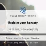 Reclaim your honesty Joachim Berggren Time for Honesty Empathic Way Europe