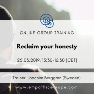Reclaim your honesty Joachim Berggren Time for Honesty Empathic Way Europe
