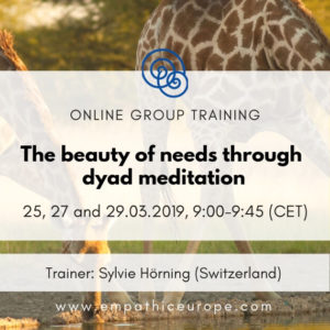 The beauty of needs through dyad meditation Empathic Way Europe