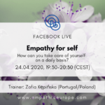 Empathy for self. How can you take care of yourself on a daily basis?