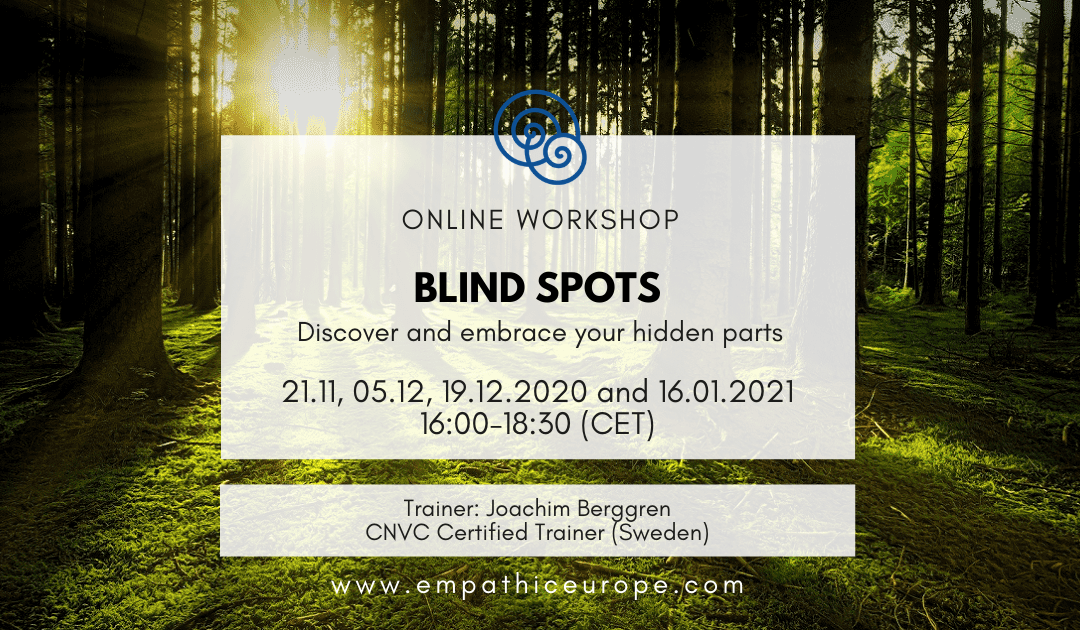 [CANCELLED] Blind Spots – Discover and embrace your hidden parts