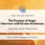 The Purpose of Anger Interview with Kirsten Kristensen