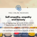 Self-empathy, empathy and honesty – series of free NVC webinars