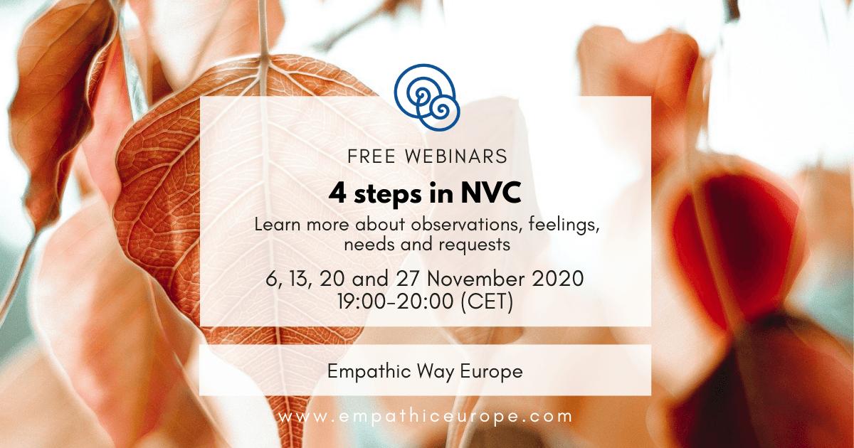 4 steps in NVC Free Webinars Empathic Way Europe