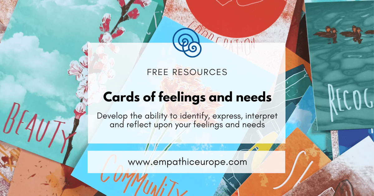 Cards of feelings and needs NVC Empathic Way Europe