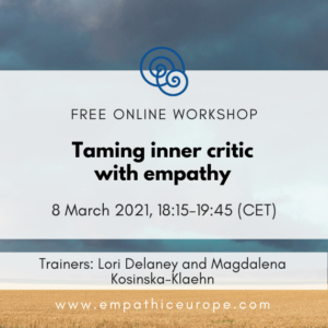 Taming inner critic with empathy Time for Empathy