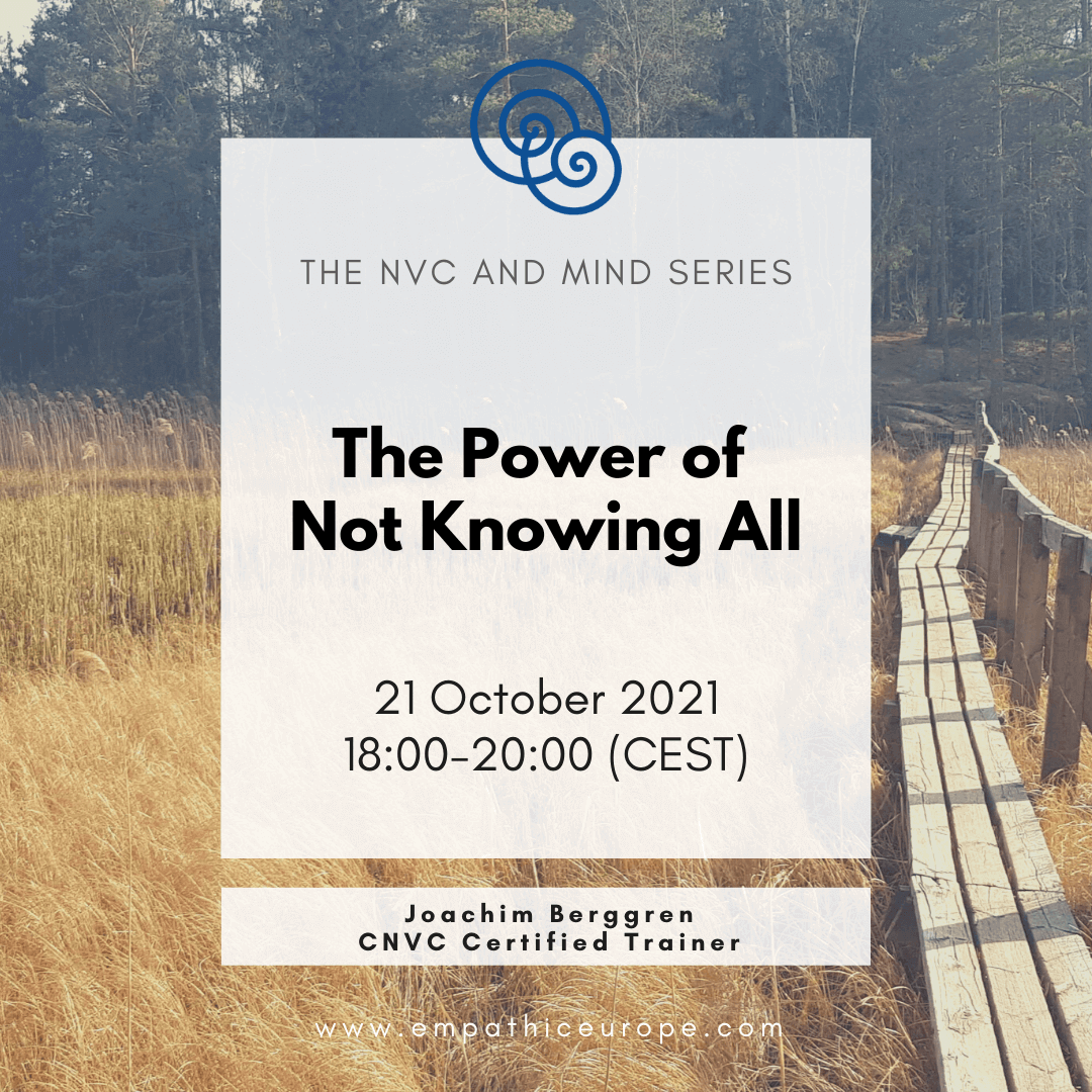 The power of not knowing all